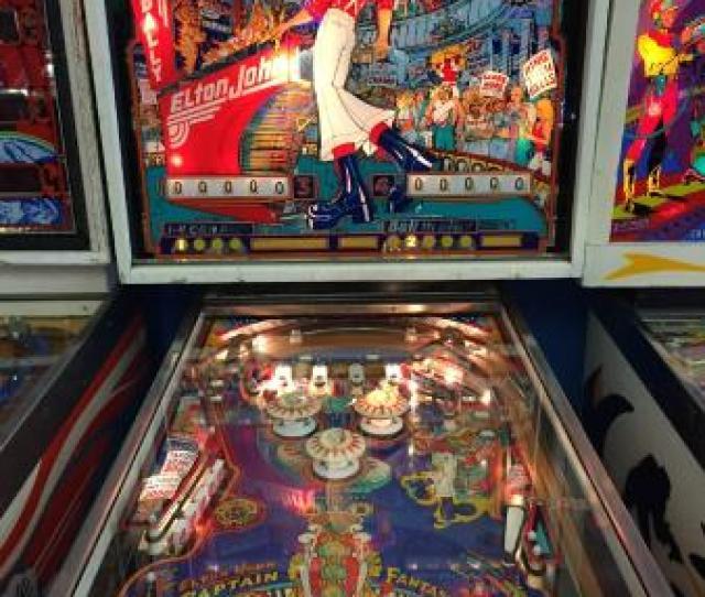 Seattle Pinball Museum Elton John And Busty Women Themed Game