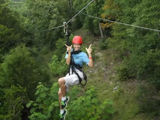 Me On Suspension Bridge Picture Of Branson Zipline At