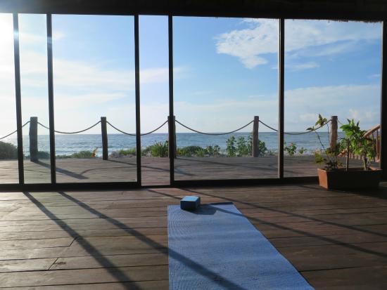 yoga studio at Akumal Bay