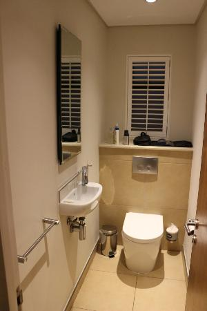 separate toilet with hand wash basin