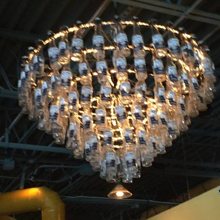 Azteca D Oro Corona Beer Bottle Chandelier
