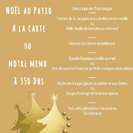 le patio menu noel 2015
