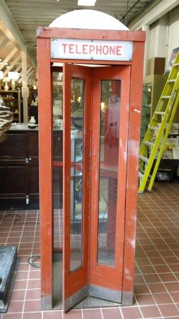 An Early 1950s Metal Outdoor Phone Booth Picture Of