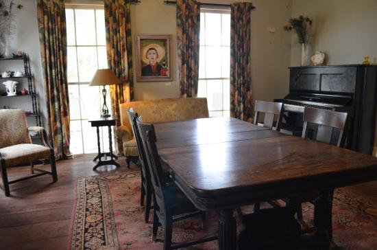 Interior of the tenant farmer s house   Picture of Andalusia Farm     Andalusia Farm  The O Connor s dining room table