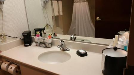 bathroom setup   Picture of Hampton Inn Jasper  Jasper   TripAdvisor Hampton Inn Jasper  bathroom setup