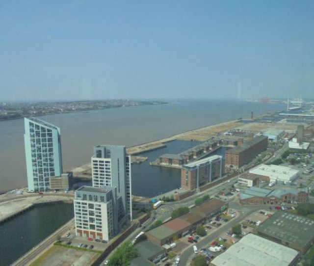 Panoramic 34 View Of The River Mersey Estuary Out Into The Irish Sea