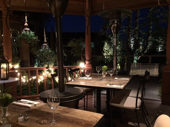it s patio dining so dressing for the
