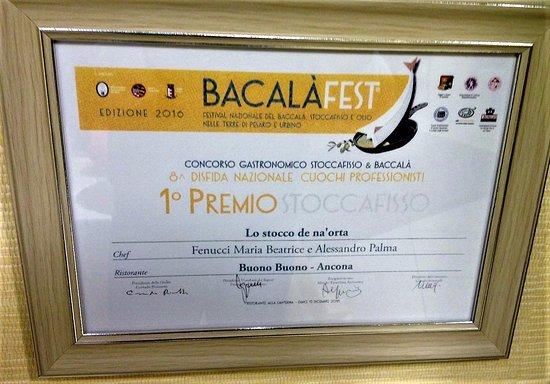 Primo Premio Bacalàfest Foto Di Ristorante Buono Buono