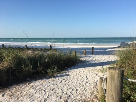 Image of beach and dunes at Bradenton Beach near Circle of Light retreat center