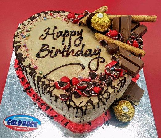 Happy Birthday Love Cake Picture Of Cold Rock Ice Creamery North Lakes Tripadvisor