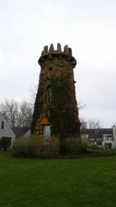 A round tower  or  folly   on the grounds  used to store gunpowder     The Mansion at Ocean Edge Resort   Golf Club  A round tower  or