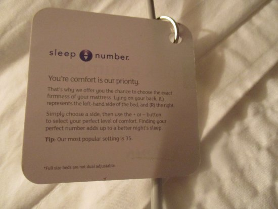 Radisson Hotel Kitchener Directions On How To Use The Bed Mattress Remote Control