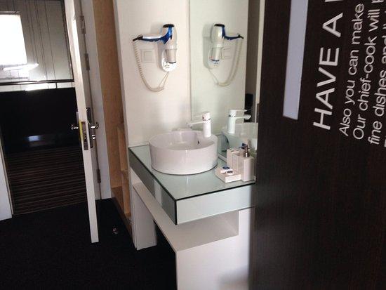 handwashing basin inside the room just