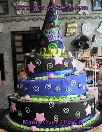 Over The Hill 40th Birthday Cake Picture Of Merry S Custom Cakes Bakery Design Studio Stroudsburg Tripadvisor