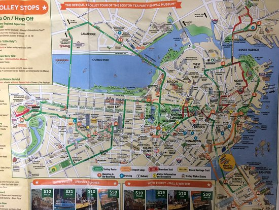 Boston Map Old Town Trolley