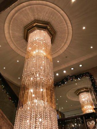 Holiday Inn Golden Mile Hong Kong The Chandelier On Second Floor Near Restaurant
