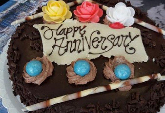 Happy Anniversary Cake Picture Of Cafeteria El Castell Benidorm