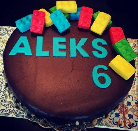 Birthday Cake For A 6 Years Old Boy Picture Of Grand Cafe Ljubljana Tripadvisor
