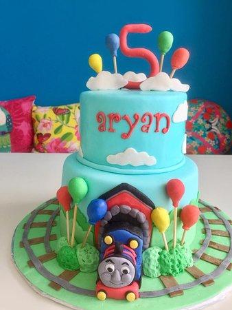 Thomas The Train Birthday Cake Picture Of Sweet Savory Bistro St Kitts Tripadvisor