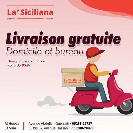 la siciliana la livraison a domicile est au bureau