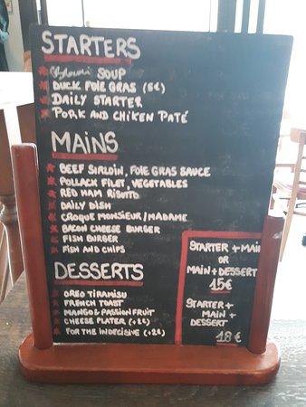 lunch menu picture of la boite aux