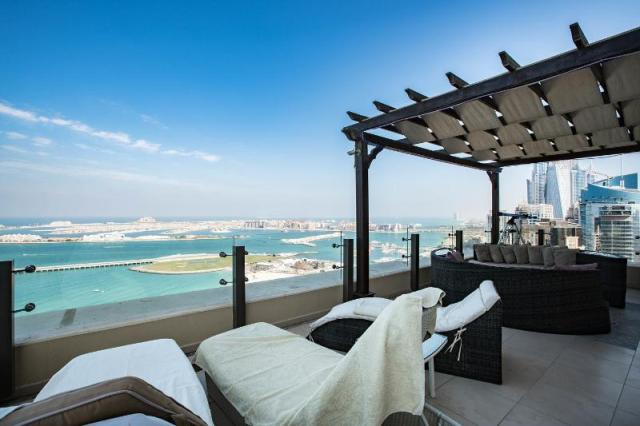 Terrace on floor 41 above JBR beach walk