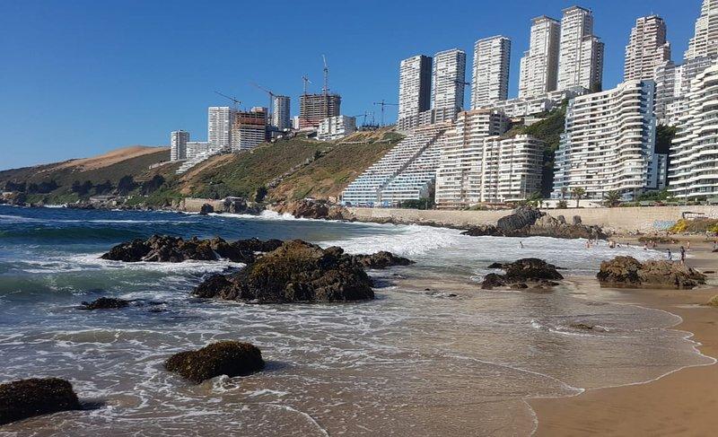 Playa Reñaca, a mais famosa praia de Viña del Mar