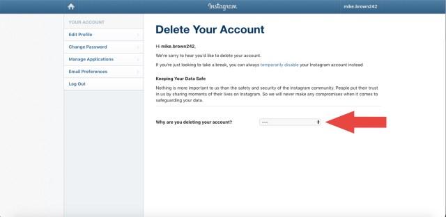 How to delete Instagram accounts in 10