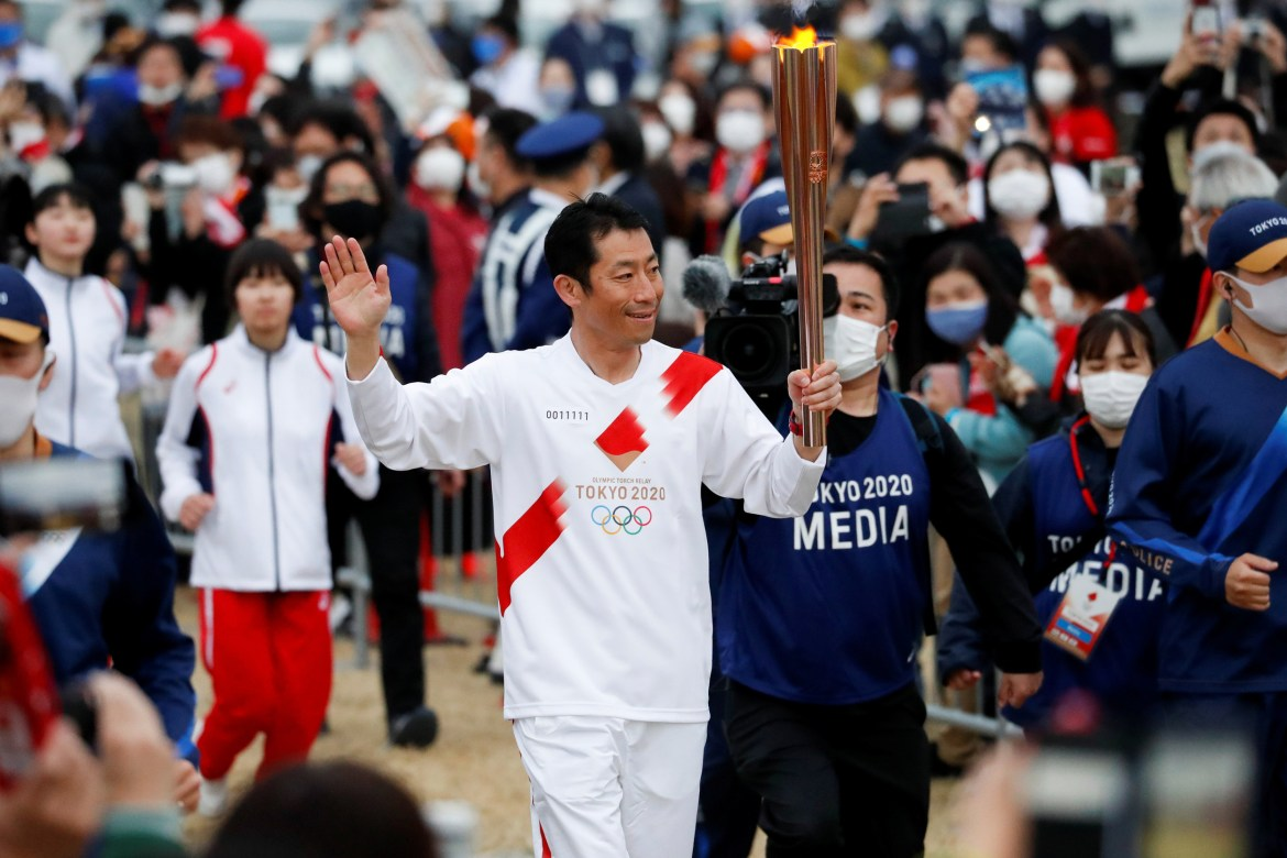 Tokyo Olympics Uncertainty Cloud Looms Torch Relay