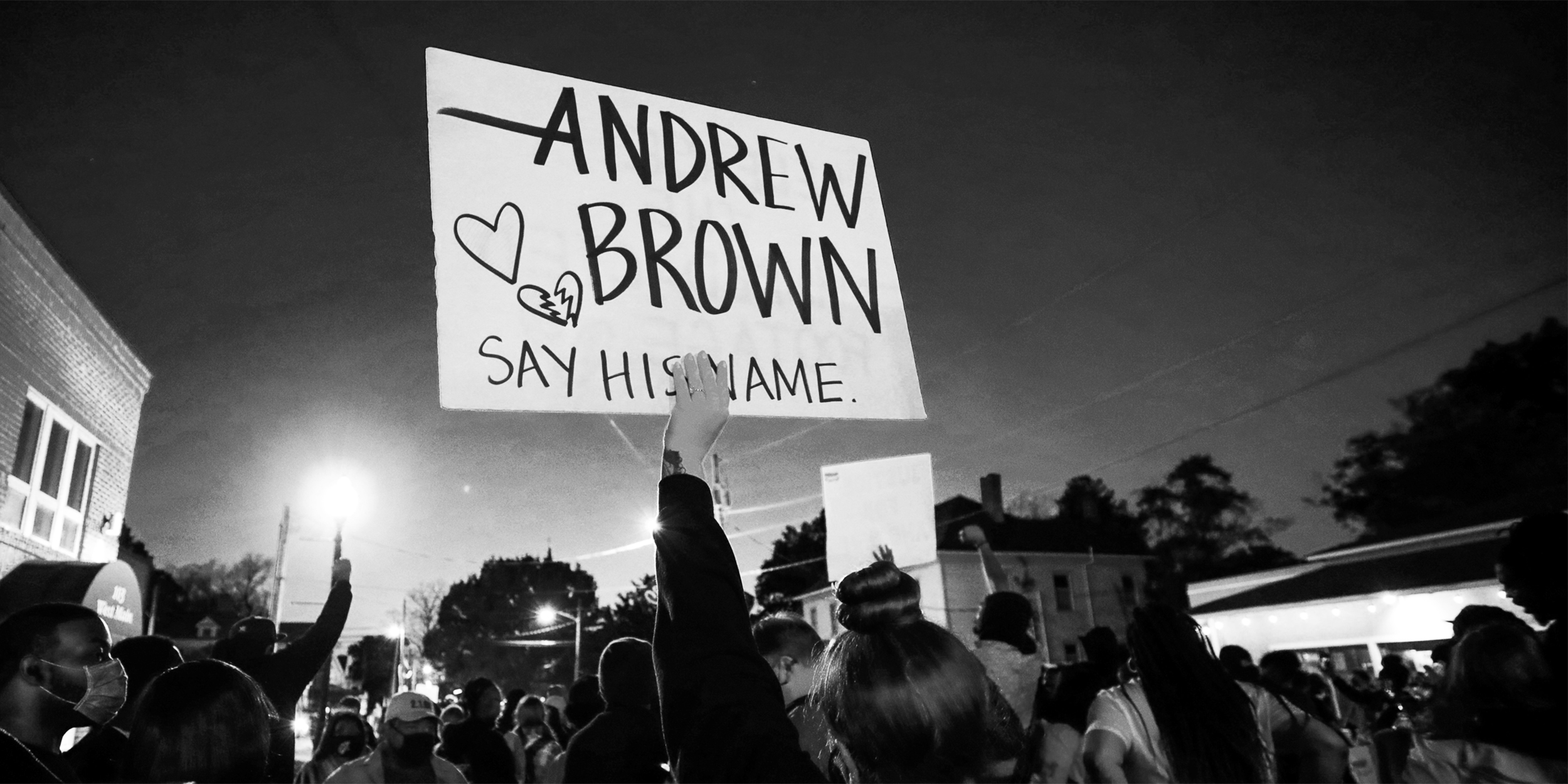 Protesters marching in Elizabeth City, N.C., over Andrew Brown's killing 6/9/21