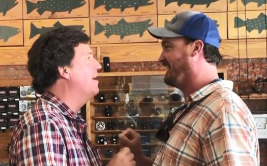 Tucker Carlson confronted at Montana fishing shop, called the 'worst human being' 2