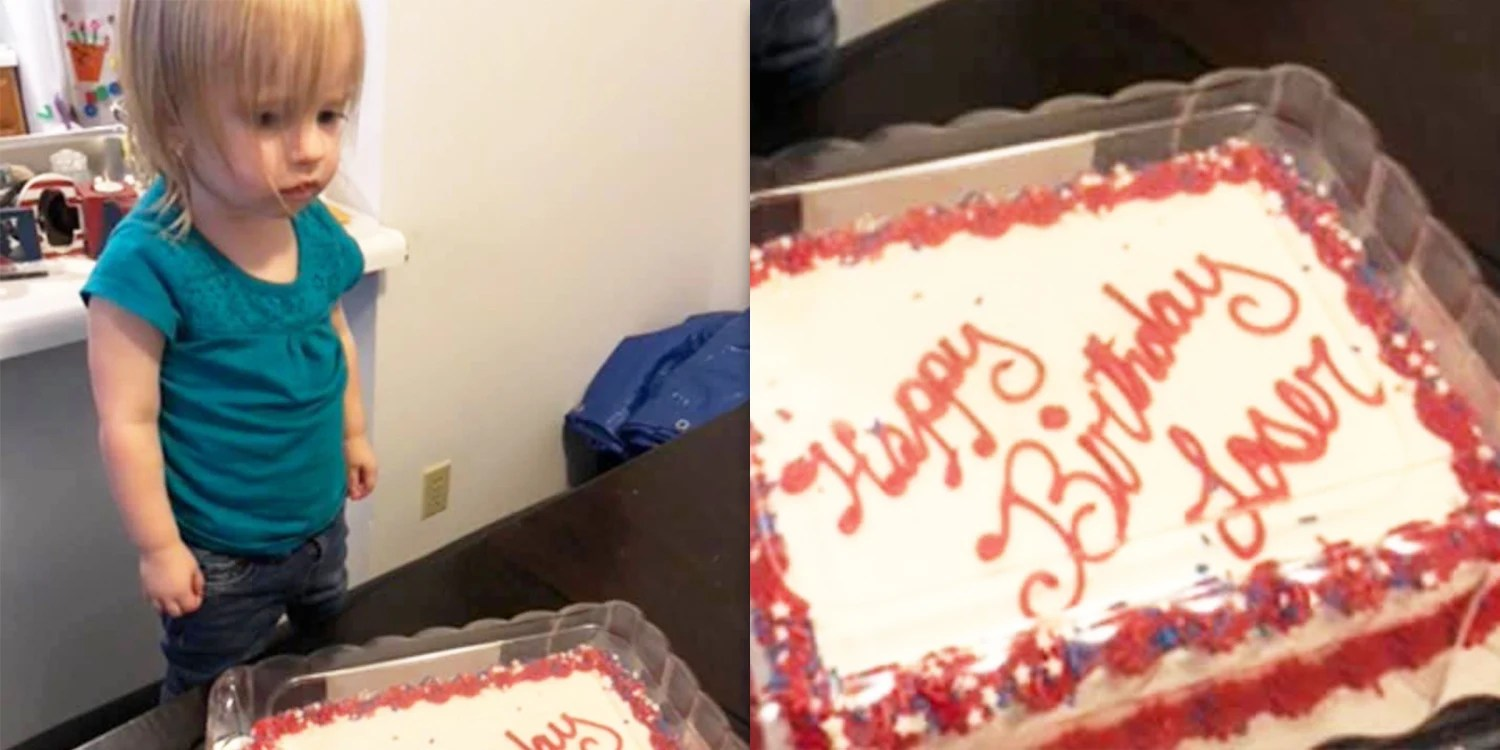 A Walmart Employee Accidentally Wrote Loser On A 2 Year Old S Birthday Cake