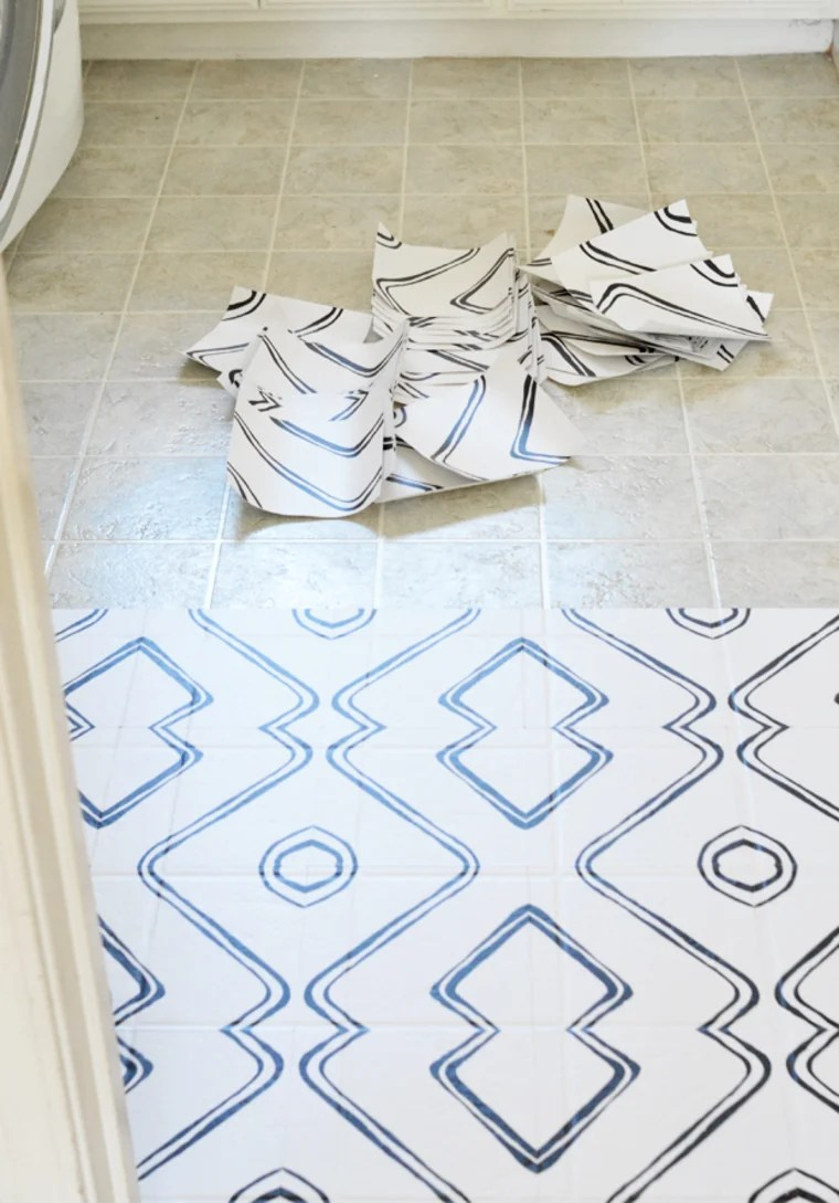 how to use peel and stick tiles on