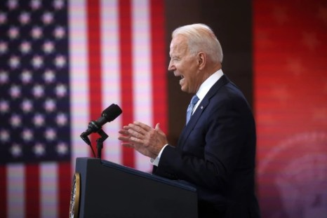Image: President Joe Biden delivers remarks on actions to protect voting rights in a speech in Philadelphia.