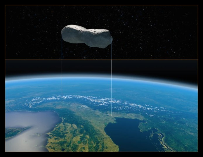 Image: Dog Bone Asteroid
