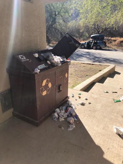 trash in national parks