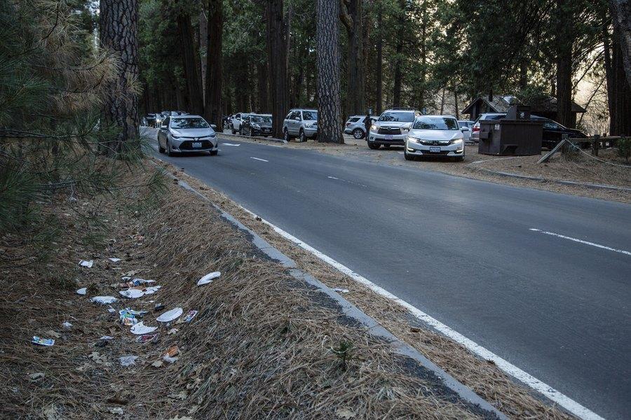 Yosemite National Park trash