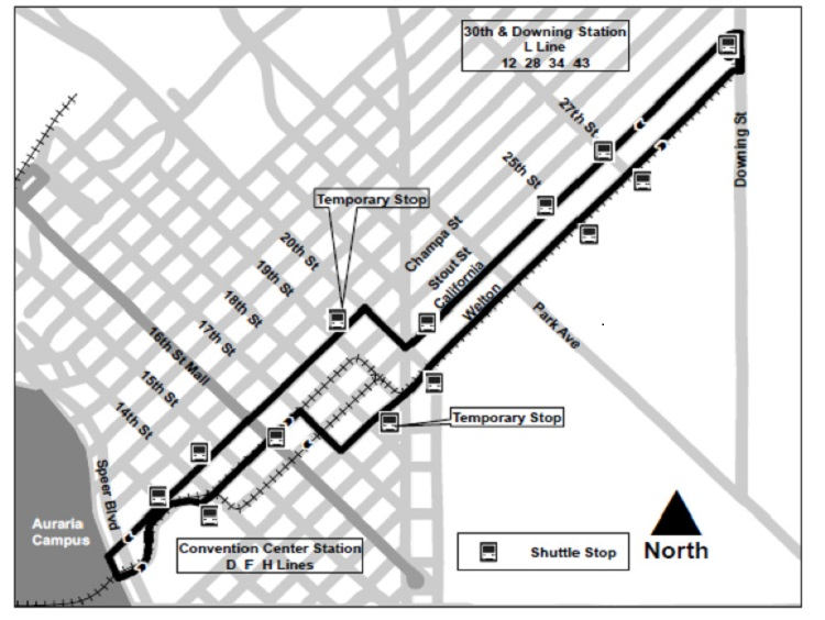 Map of RTD closures.