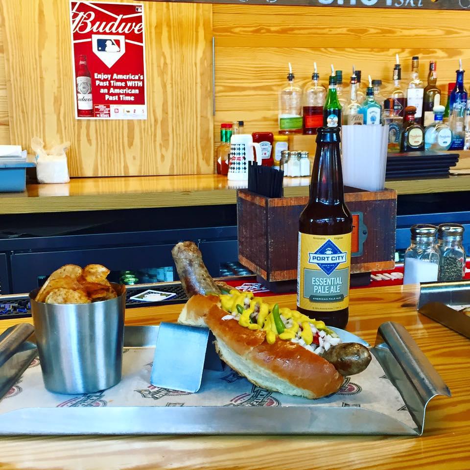 hot dog, beer,The Big Stick