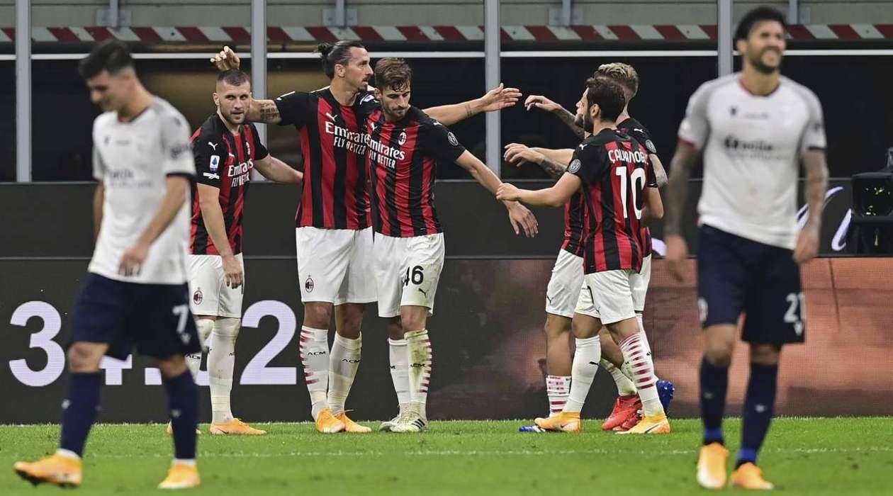 Милан — Болонья 2:0 Видео голов и обзор матча