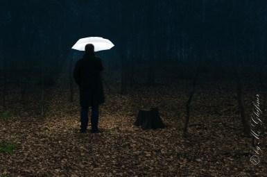 Bernd (mit Schirm)