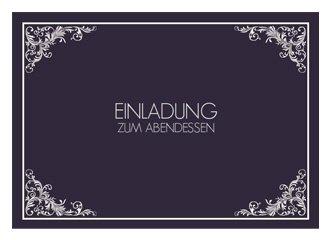 Einladungskarte Zum Essen Marlene