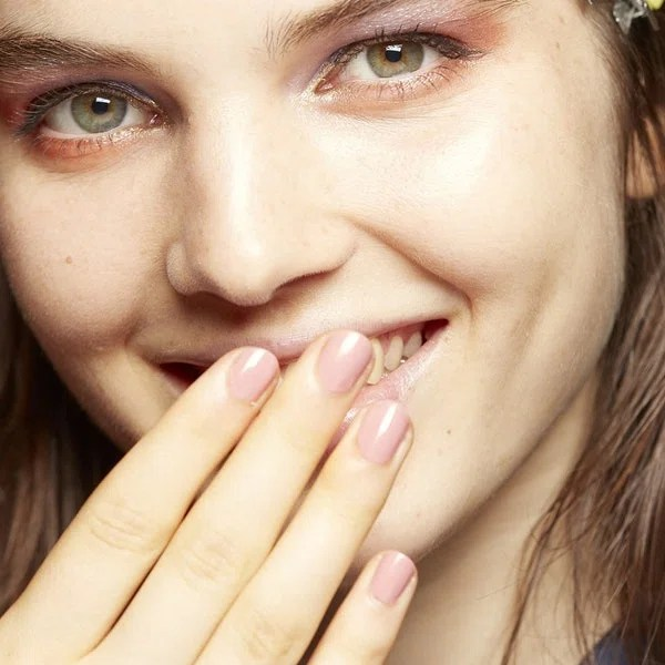 At first glance, this looks like your usual pink manicure, fit for a lady who owns a poodle. But with a closer look, the saturated tone of ZOYA in Mia and the square nail shape at Jill Stuart take it to the next level.