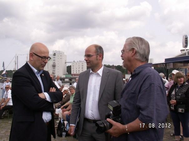 Ministerpräsident Torsten Albig, OB Simon Faber (von links)