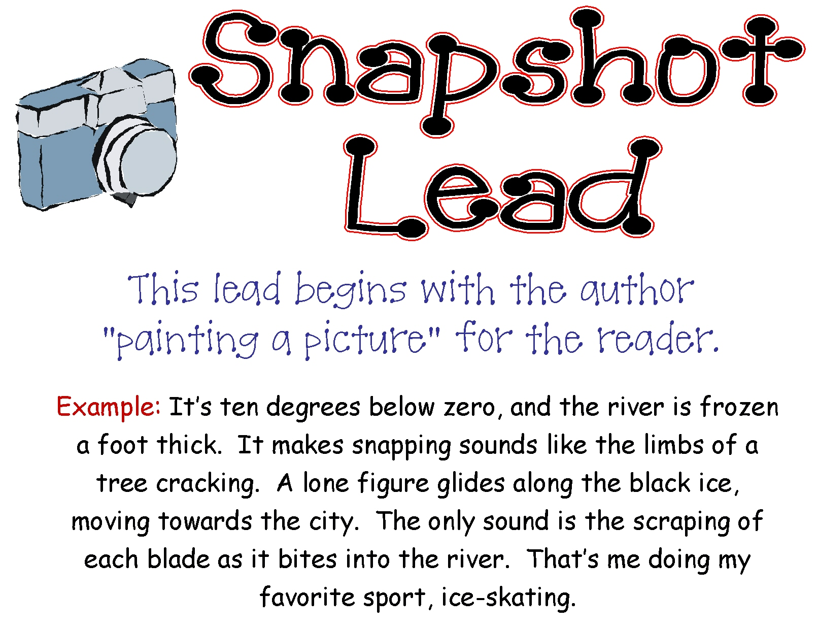 Snapshot Lead For Personal Narrative