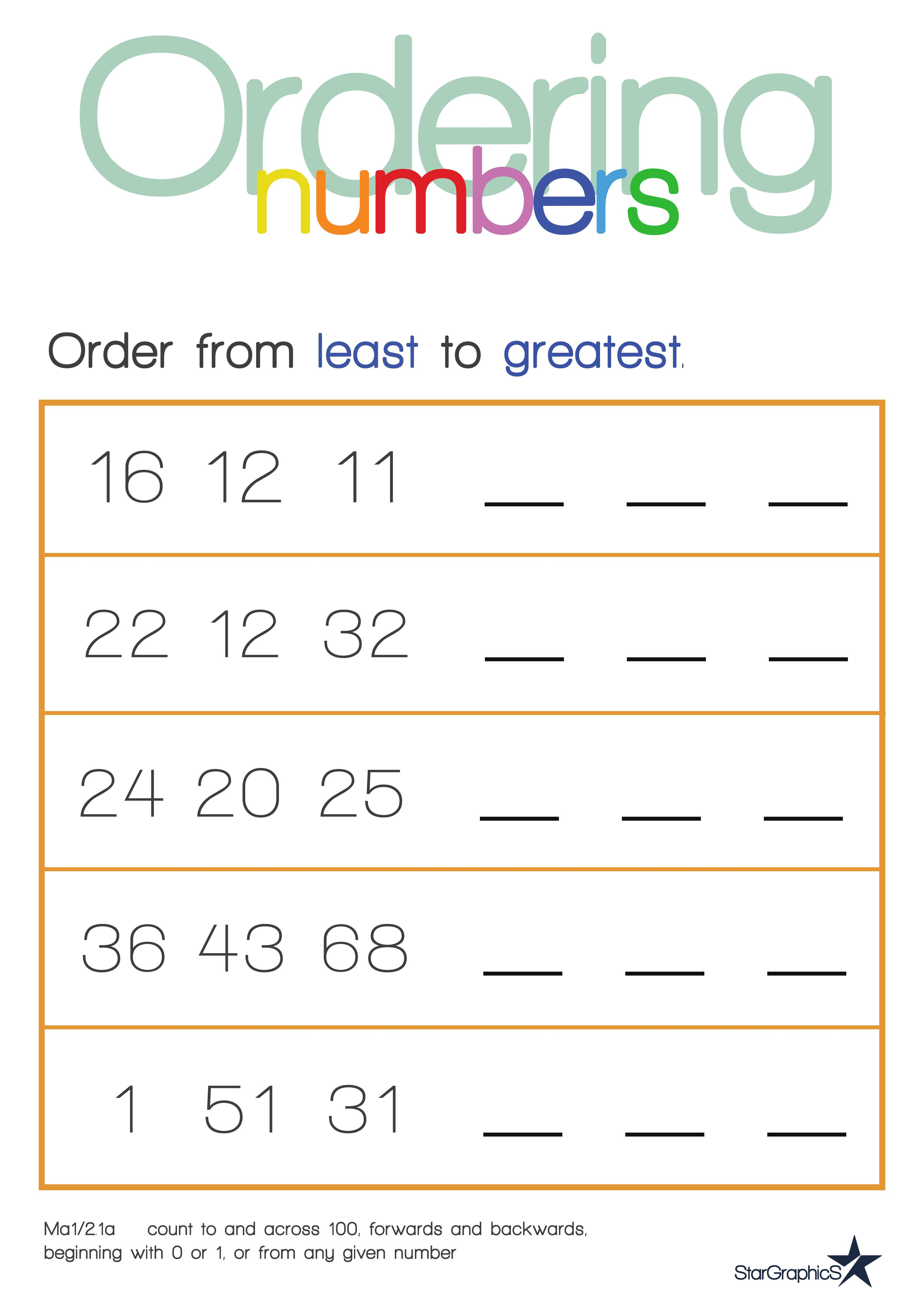 Pare And Order Fractions And Decimals Worksheet