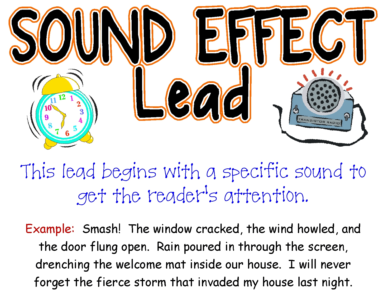 Sound Effect Lead For Personal Narrative