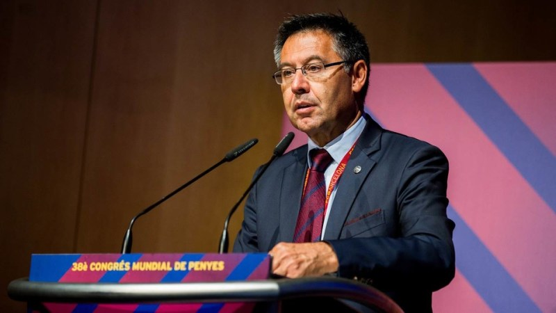 Josep Maria Bartomeu Was Speaking At The World Congress Of Fc Barcelona Supporters Clubs German Parga Fcb