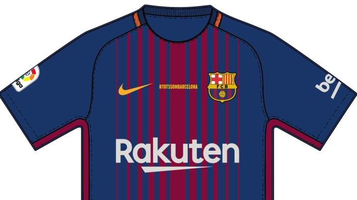 Camiseta FC Barcelona atentado