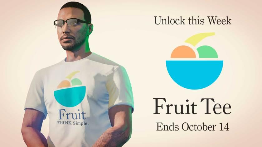 Un t-shirt Fruit est offert cette semaine